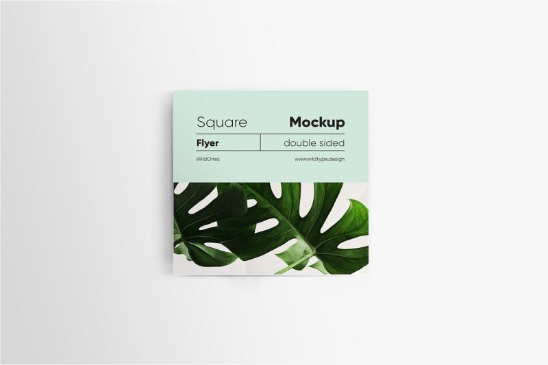 Free Square Flyer Mockup (PSD Mockups)