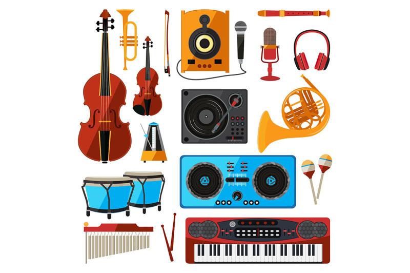 musical-instrument-isolate-on-white-music-equipment-for-sound-studio