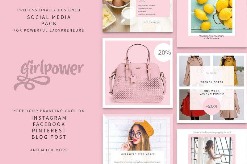 girlpower-social-media-pack