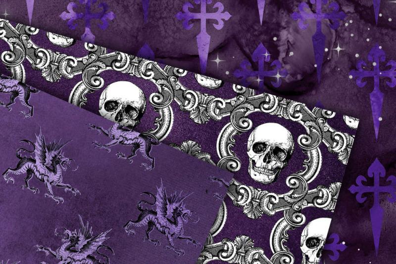 seamless-purple-gothic-digital-paper