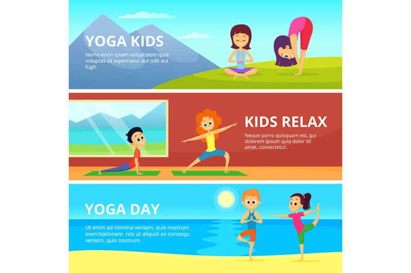 outdoor-pictures-of-kids-making-different-yoga-exercises