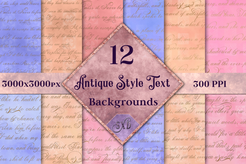 antique-style-text-backgrounds-12-image-set