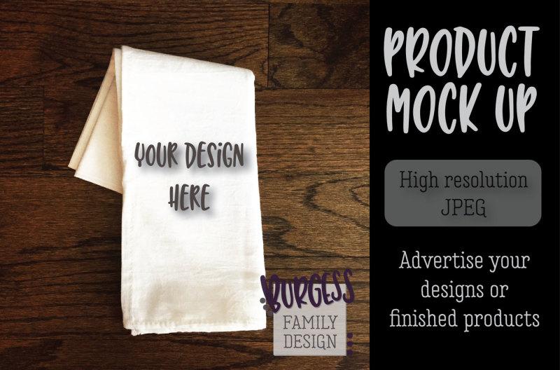 Free MOCK UP | Flour sack tea towel (PSD Mockups)