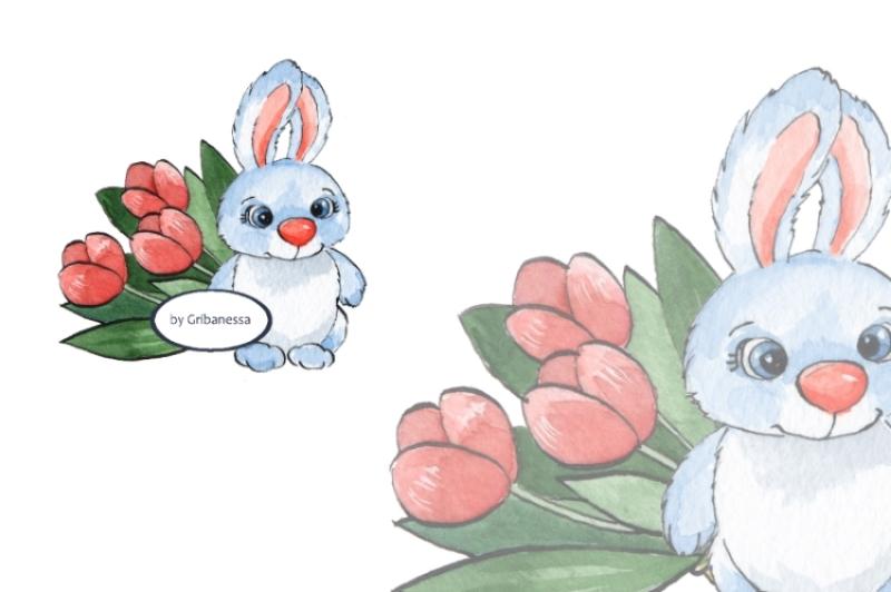 cartoon-rabbits-watercolor-2