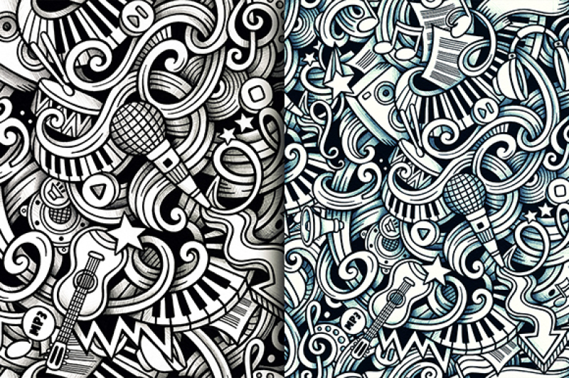 5-music-graphic-doodles-patterns
