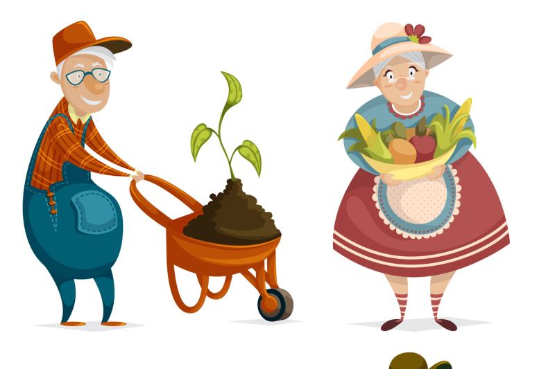 family-farm-cartoon-characters