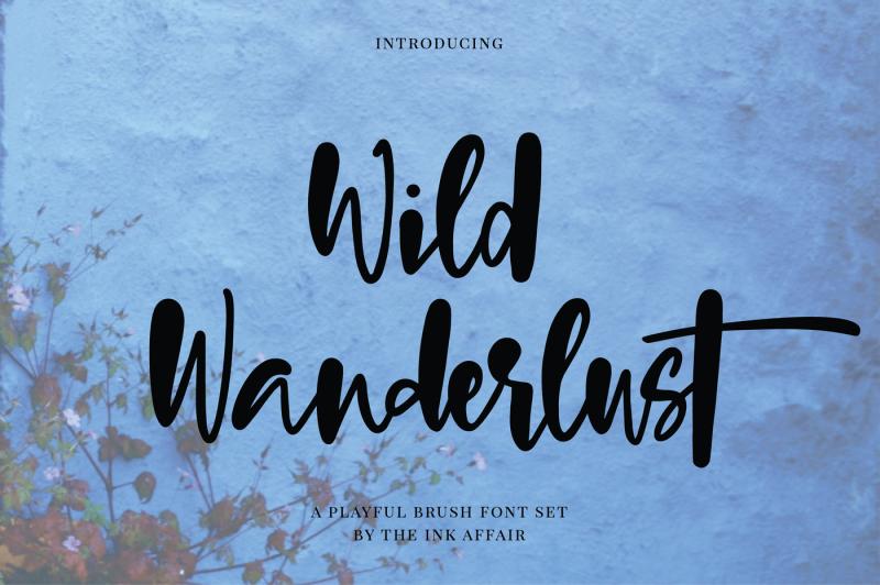 wild-wanderlust-font-set