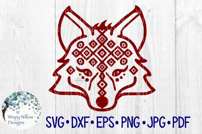 tribal-fox-face-wolf-boho-svg-dxf-eps-png-jpg-pdf