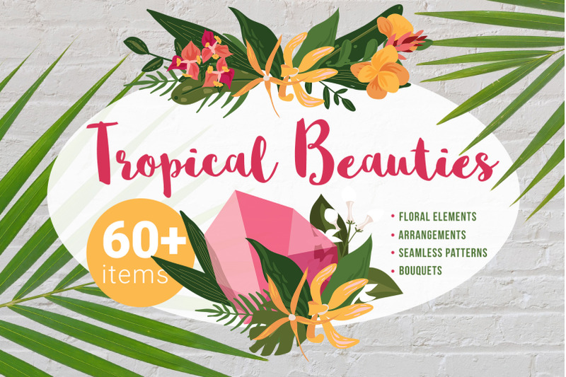 tropical-beauties-vector-floral-set