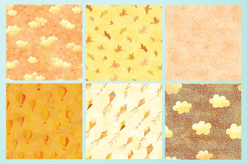 honey-sky-vector-elements-set