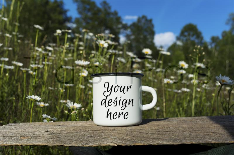 white-campfire-enamel-mug-mockup-with-daisy-field