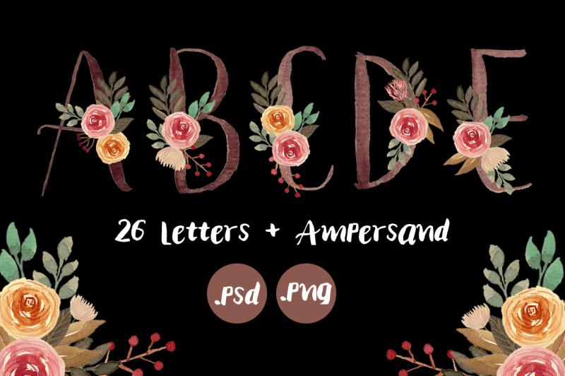 floral-monogram-letters