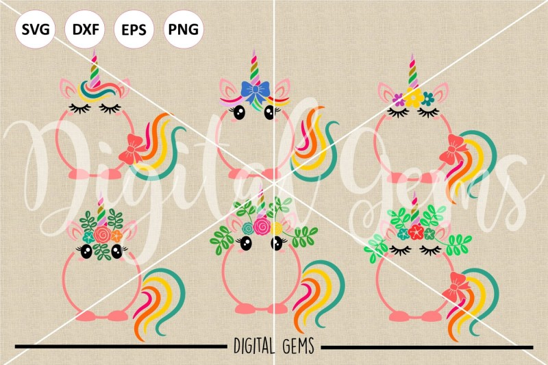 unicorn-svg-dxf-eps-png-files