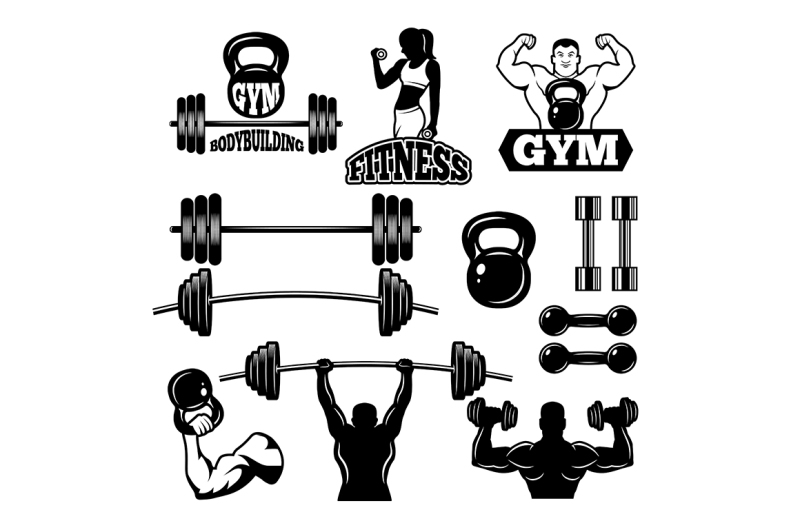 badges-and-labels-for-gym-and-fitness-club