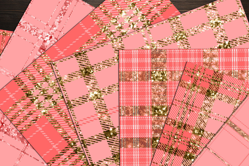 16-luxury-gold-and-peach-glitter-plaid-tartan-digital-papers