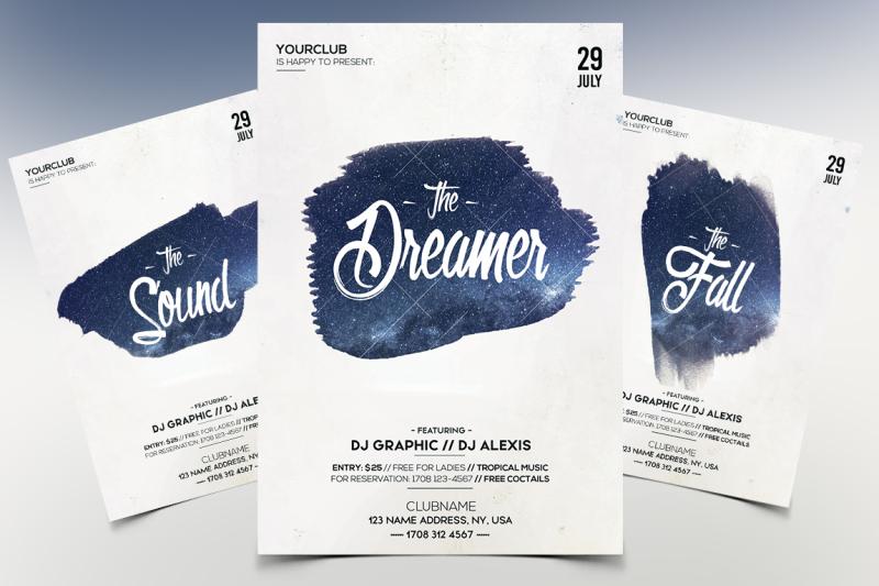the-dreamer-minimal-psd-flyer