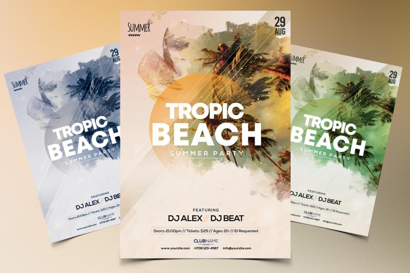 tropic-beach-psd-flyer-template