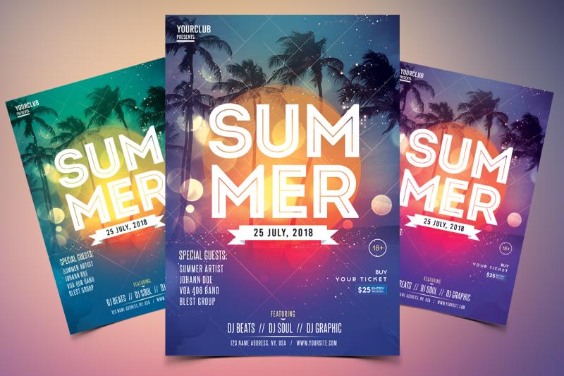 summer-event-psd-flyer-template