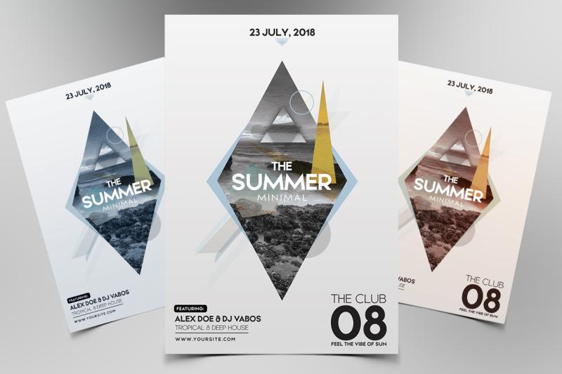 summer-minimal-psd-flyer-template