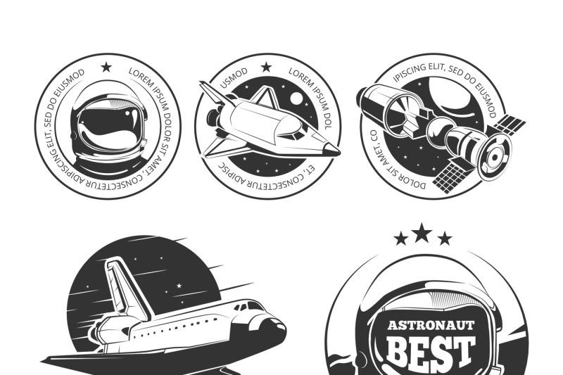 astronautics-vector-labels-badges-and-emblems