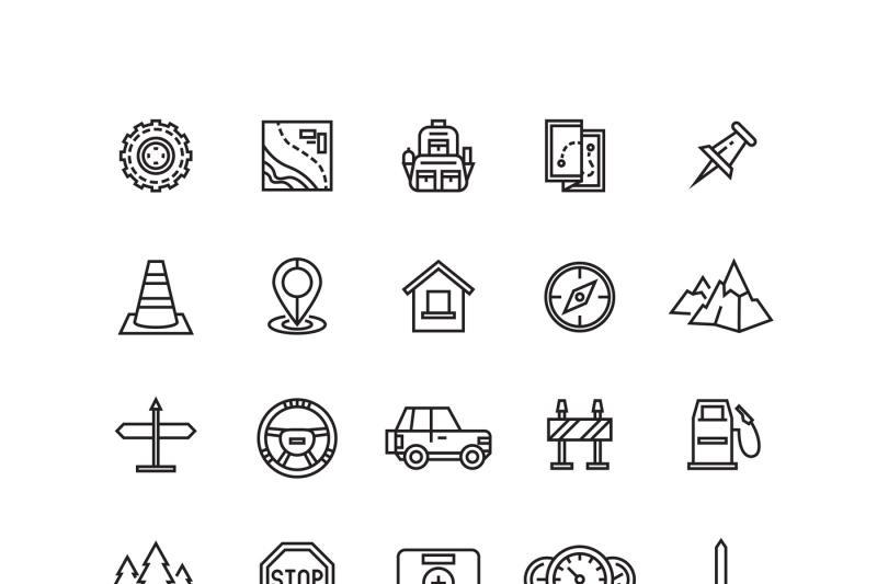 vector-road-auto-line-icons