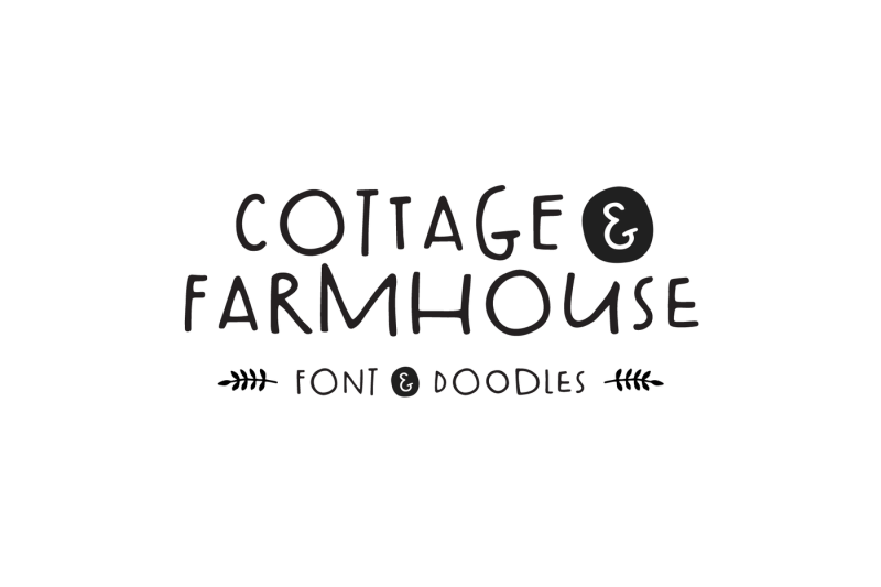 cottage-and-farmhouse-font-doodles