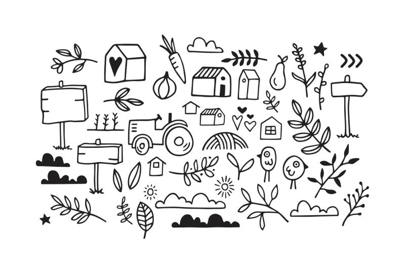 cottage-and-farmhouse-font-doodles