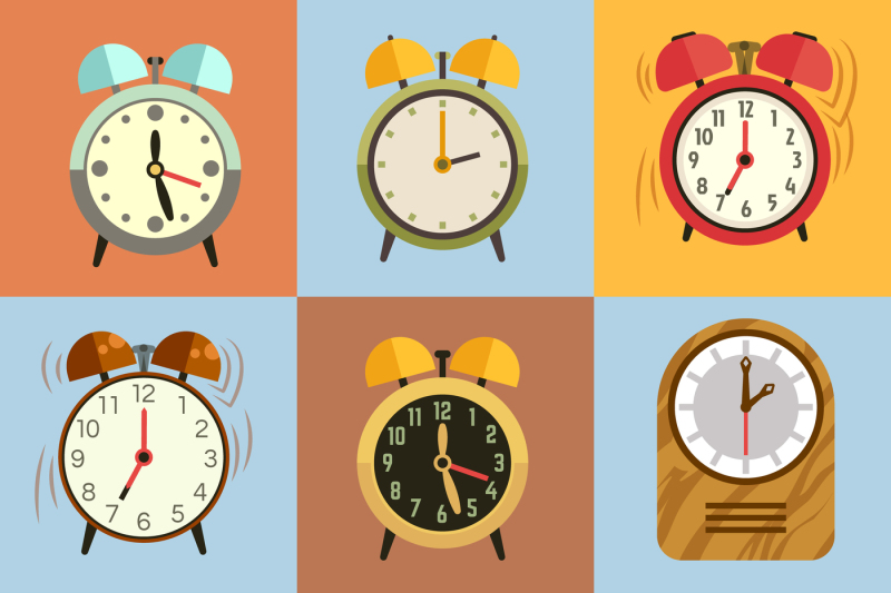 alarm-clock-flat-vector-icons