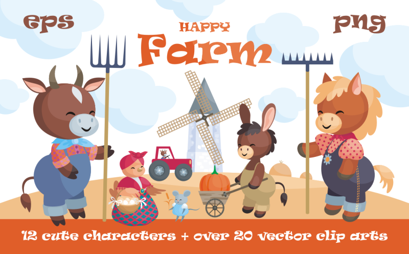 happy-farm-cute-animals-and-harvest