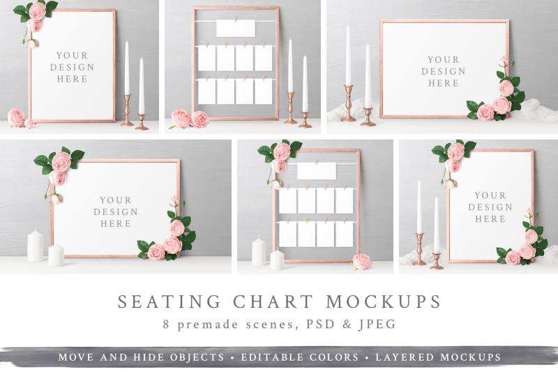 Free Wedding Seating Chart Mockups (PSD Mockups)