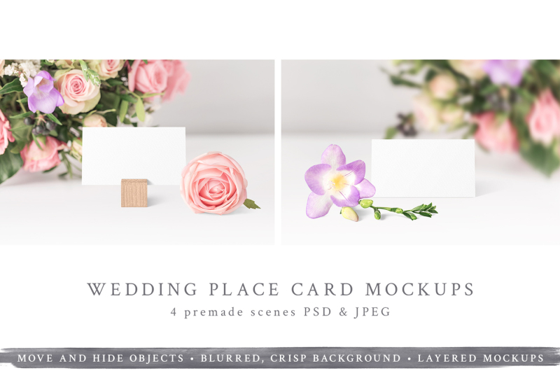 Free Wedding Place Card Mockups (PSD Mockups)