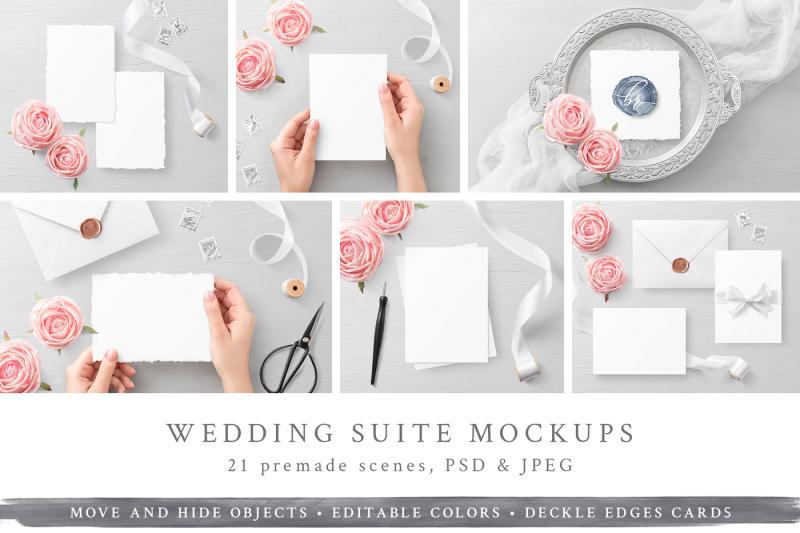 Free Wedding Suite Mockups (PSD Mockups)