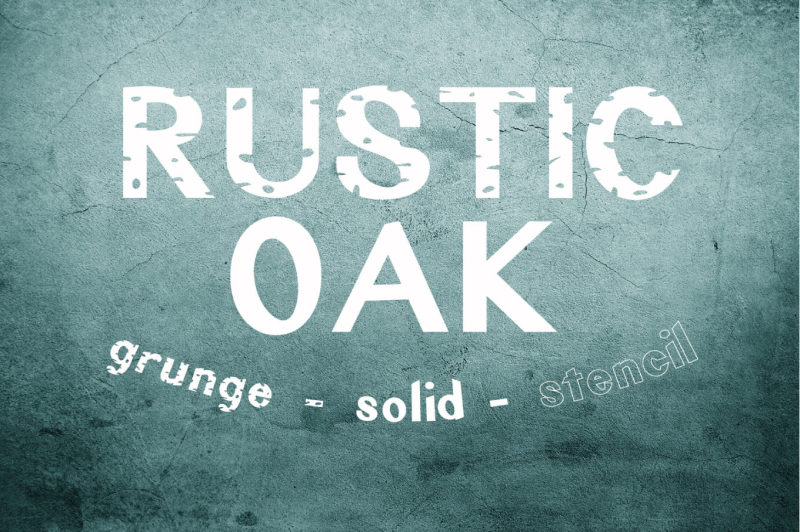 rustic-oak-a-grunge-solid-and-stencil-font