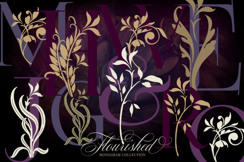 flourished-vector-monogram-collection