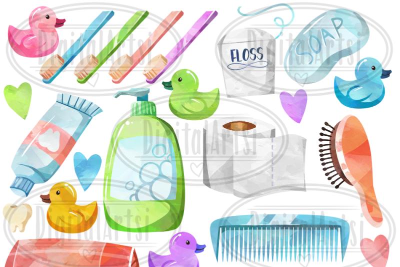 watercolor-bathroom-supplies-clipart