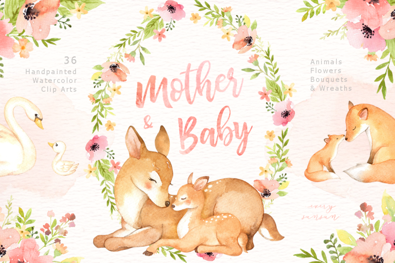 mother-and-baby-watercolor-clipart