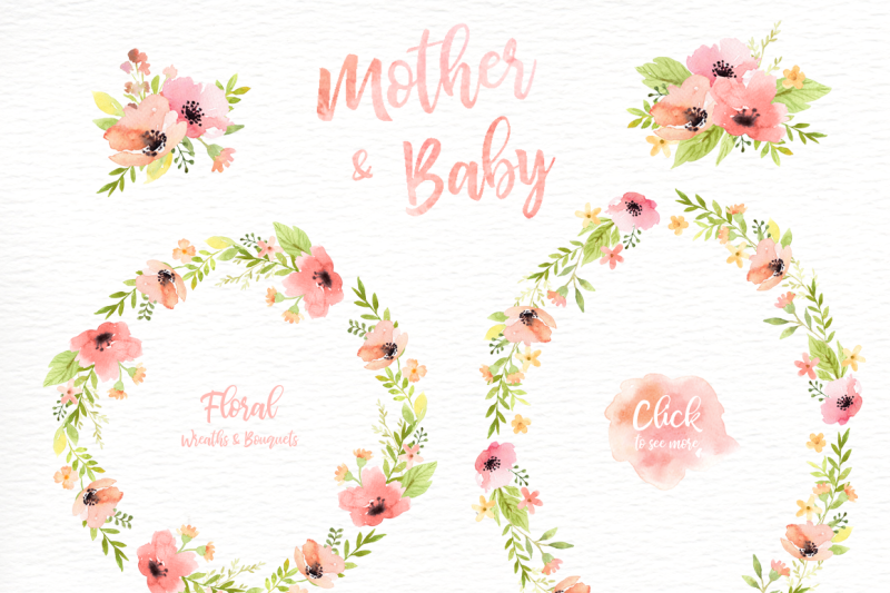 mother-amp-baby-watercolor-clipart