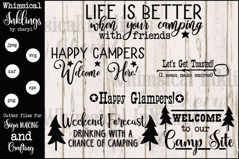camping-collection-one-svg-set