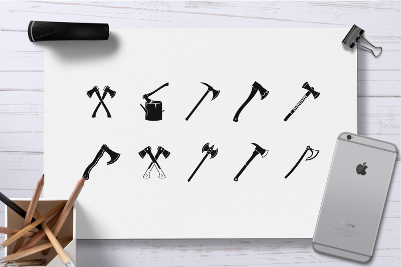 axe-icon-set-simple-style