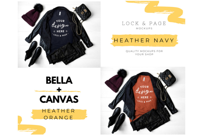 fall-bella-canvas-3001-autumn-tshirt-mockup-bundle-fall-t-shirt-mockup