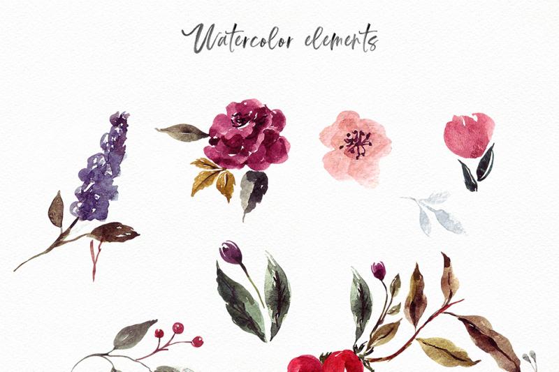watercolor-floral-wreath
