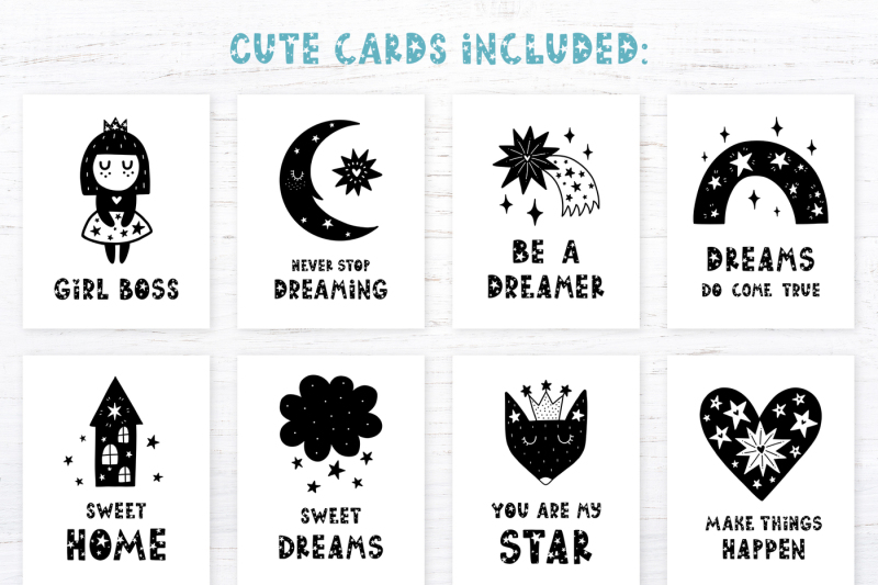 starry-typeface-font-with-clipart