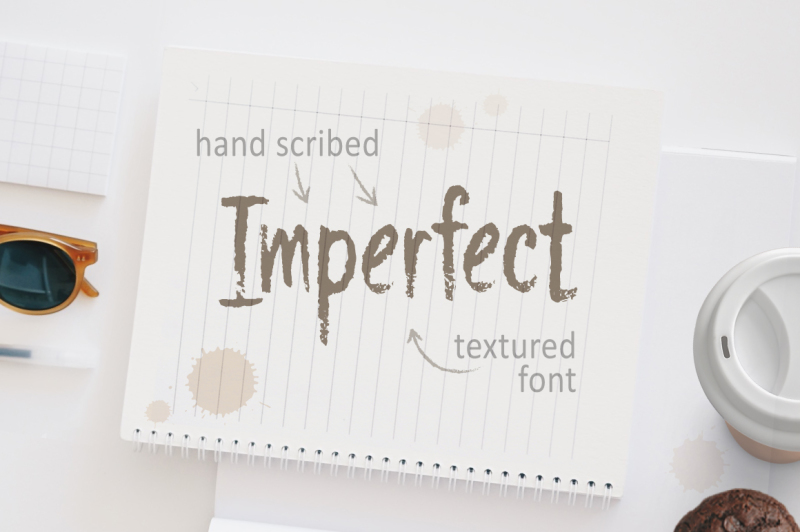 imperfect-hand-script-textured-font