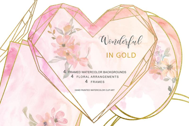 watercolor-blush-gold-geometric-frames-framed-blush-background
