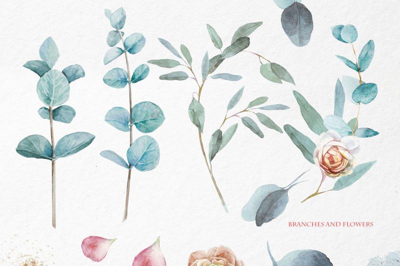 eucalyptus-branches-and-petals
