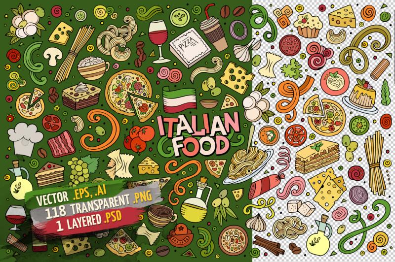 italian-food-objects-and-symbols-set