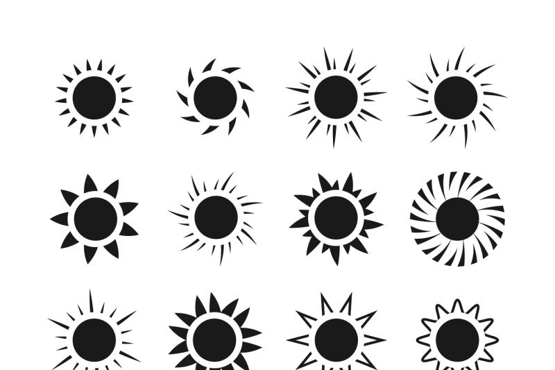 sun-icons-vector-set