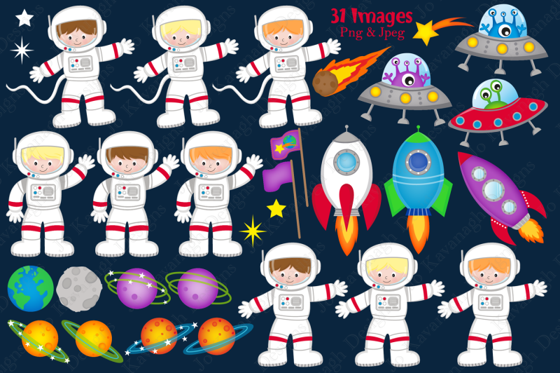 space-clipart-space-graphics-amp-illustrations-astronauts-planets