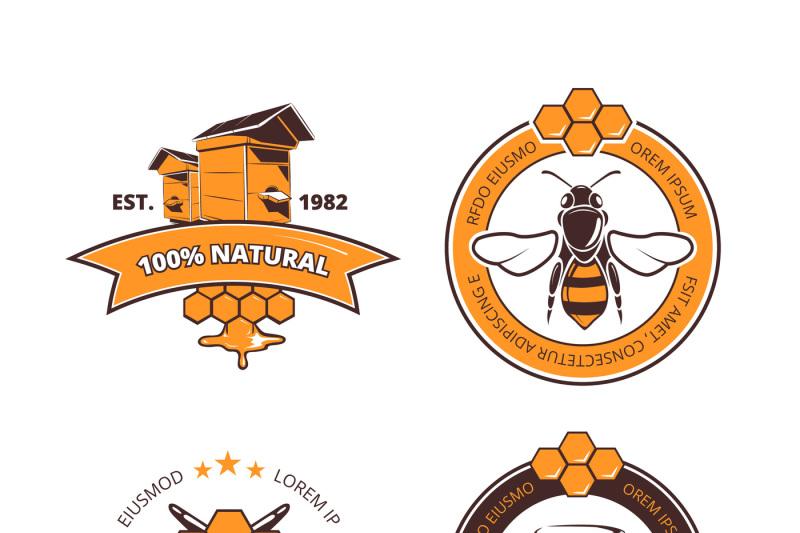 retro-beekeeper-honey-vector-labels-badges-emblems