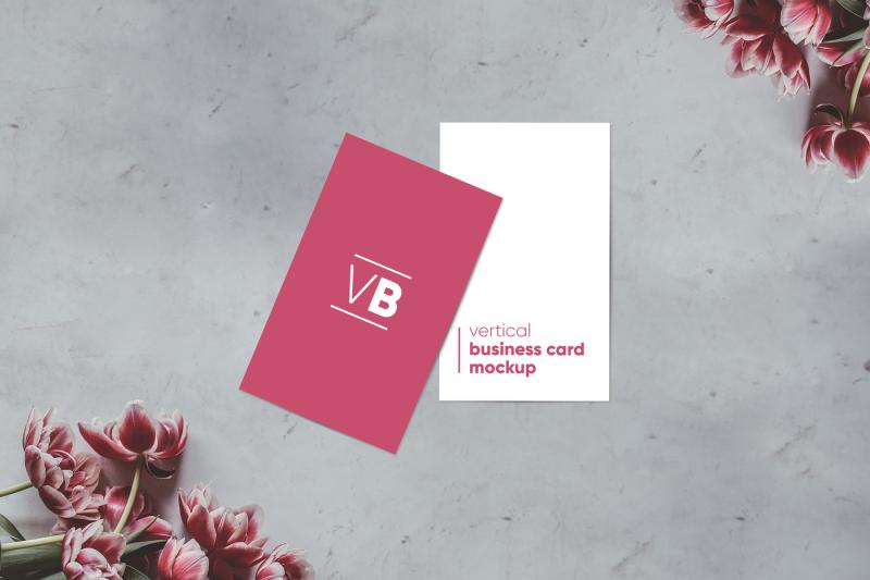 vertical-business-card-mockup